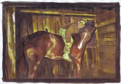 Chris Cervantes and his horse, Dakota