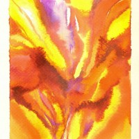 Iris, by Lahle. Watercolor. Circa 2008.