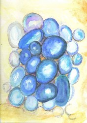 Stoned Blue, by Lahle. Watercolor abstract.