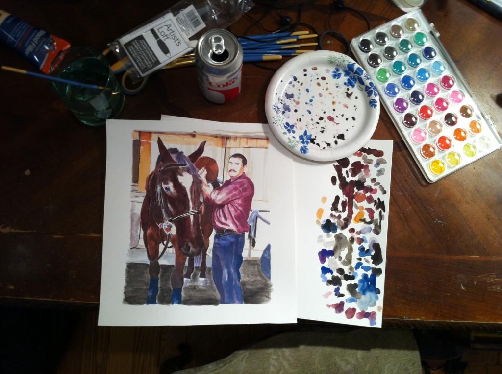 Andy and Ramiro, watercolor