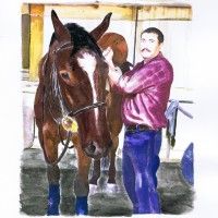 Ramiro and Andy Watercolor by Lahle Wolfe