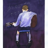 Boy Playing Guitar Sophia Ehrlich