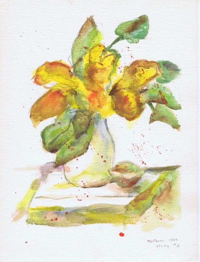 Flower Study 11 2002 Sophia Ehrlich