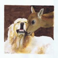 Golden and Deer 07 2005 Sophia Ehrlich