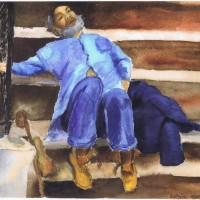 Homeless Man 10 29 03 Sophia Ehrlich