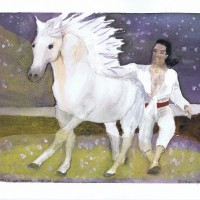 Horse Whisperer on Starry Night 09 2004 Sophia Ehrlich