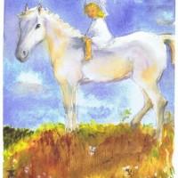 Little Sophia 02 2003 Watercolor Painting by Sophia Ehrlich