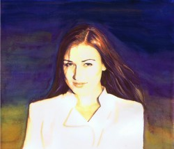 """Nastiya"" atercolor by Lahle Wolfe. December 2013."