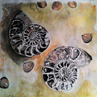 """""""Nautilus Shells"""" watercolor by Lahle. Circa Summer 2008."""