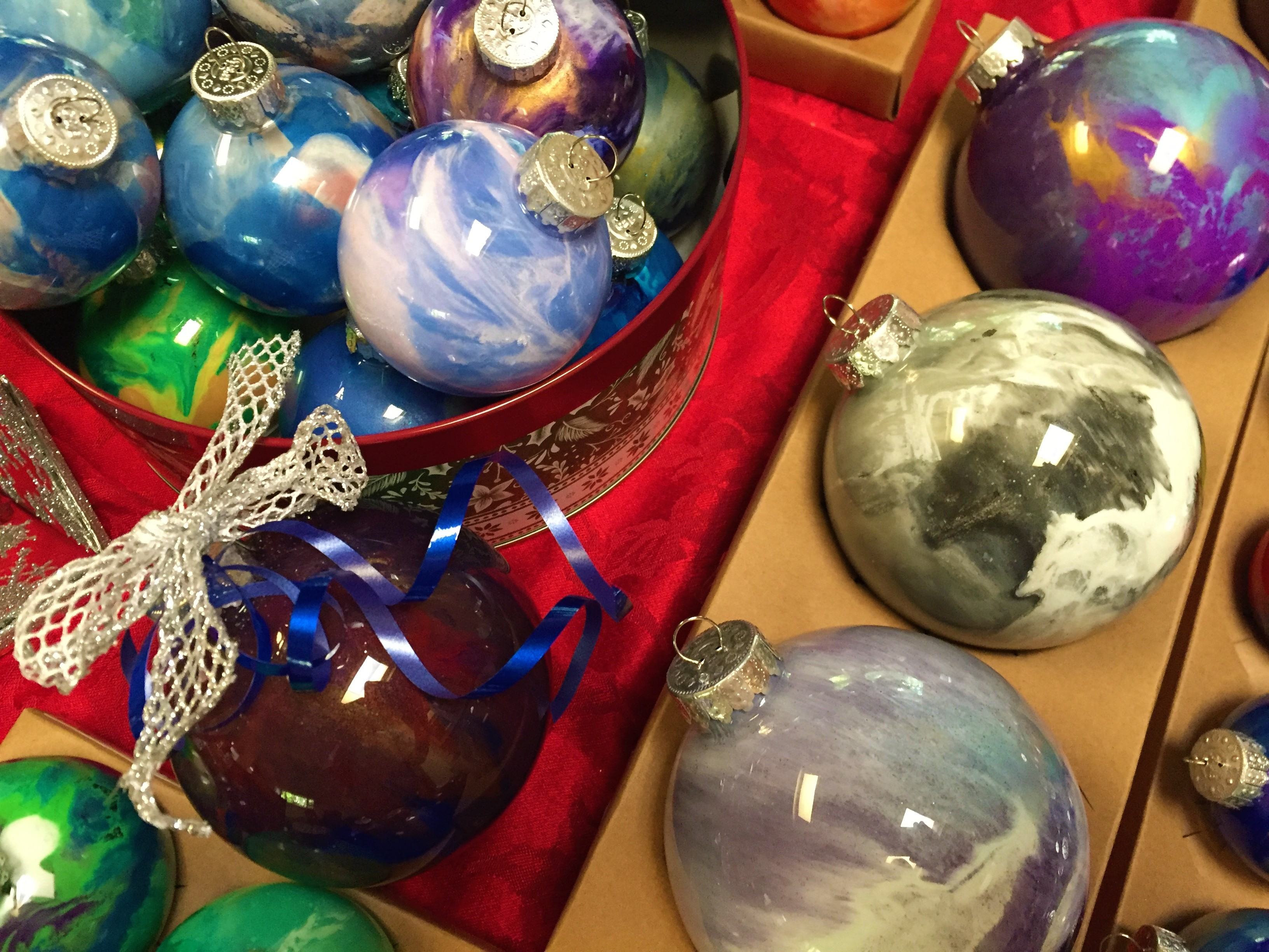 Colorful Christmas Ornaments Lahle Wolfe