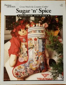 Christmas Stocking - Sugar and Spice BHG 1992 Cross Stitch and Coutrny Crafts