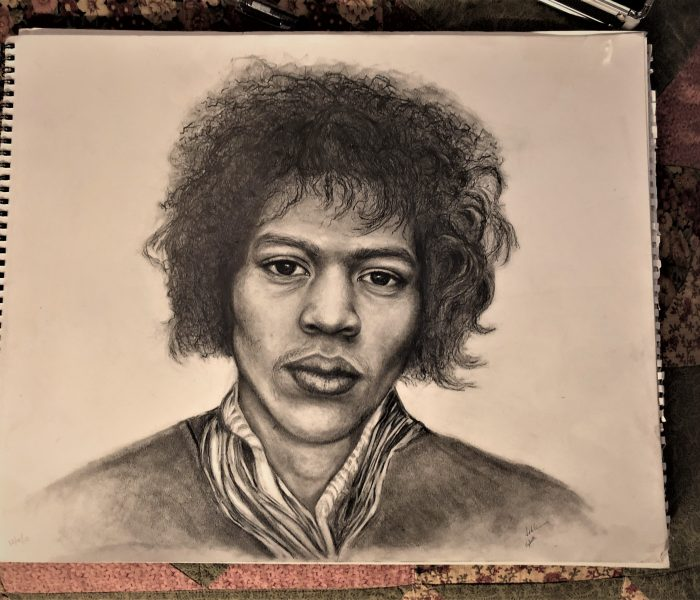 Jimi Hendrix by Lahle and Elizabeth Wolfe