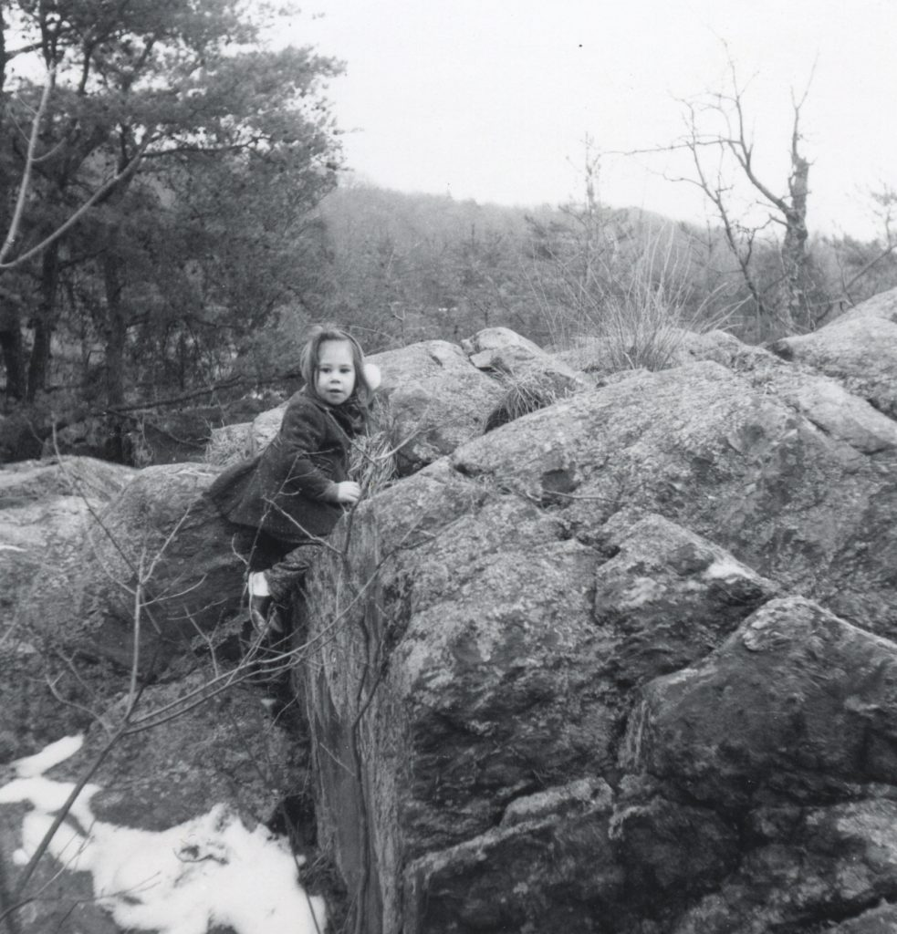 Black and white photo circa 1963 at Great Falls. Lahle Wolfe as a child.