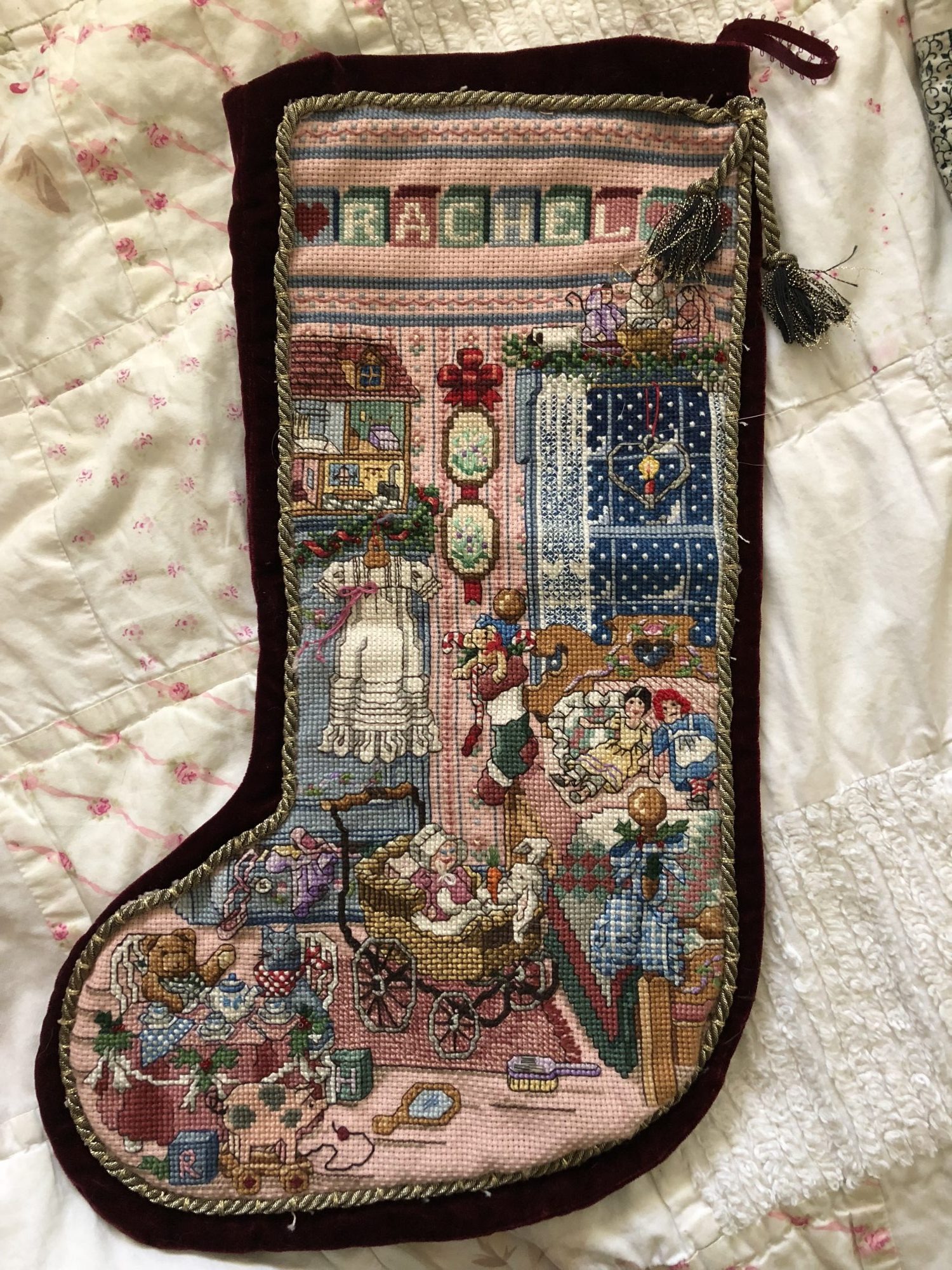 Rachel Stocking Full - Sugar and Spice Christmas Cross Stich